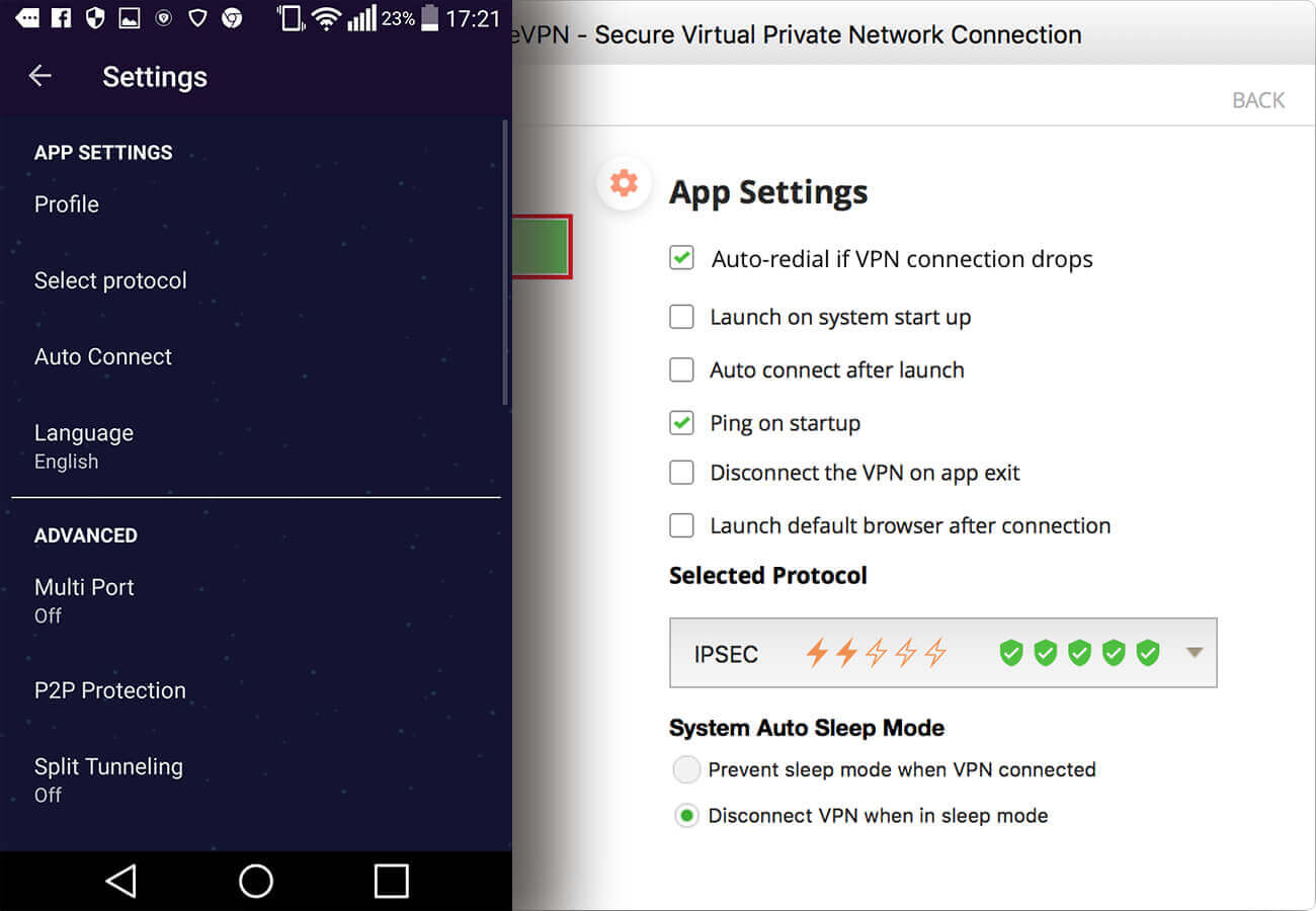 Pure VPN Android Windows