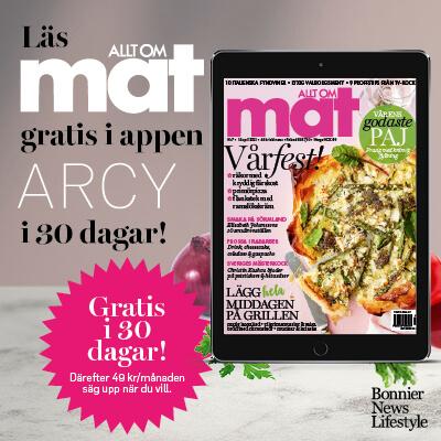 30 dagars kostnadsfri läsning av Allt om Mat i ARCY