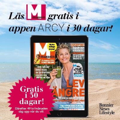 30 dagars kostnadsfri läsning av M-magasin i ARCY digitalt