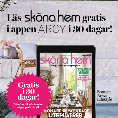 30 dagars kostnadsfri läsning av Sköna hem i ARCY