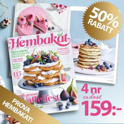 4 nr av Hembakat för endast 159 kr