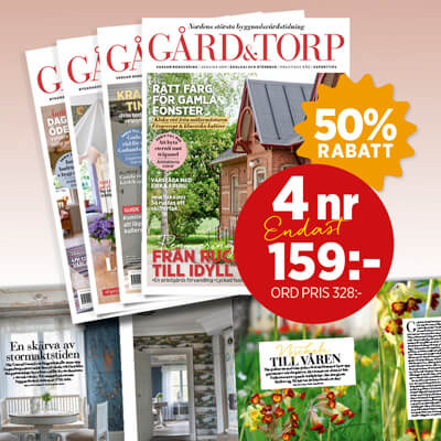 4 nummer av Gård & Torp för 159 kr