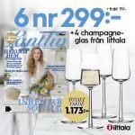 Lantliv + 4 champagneglas från Iittala
