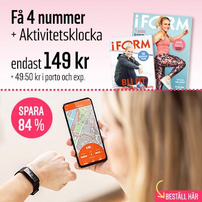 I FORM + Aktivitetsklocka premie