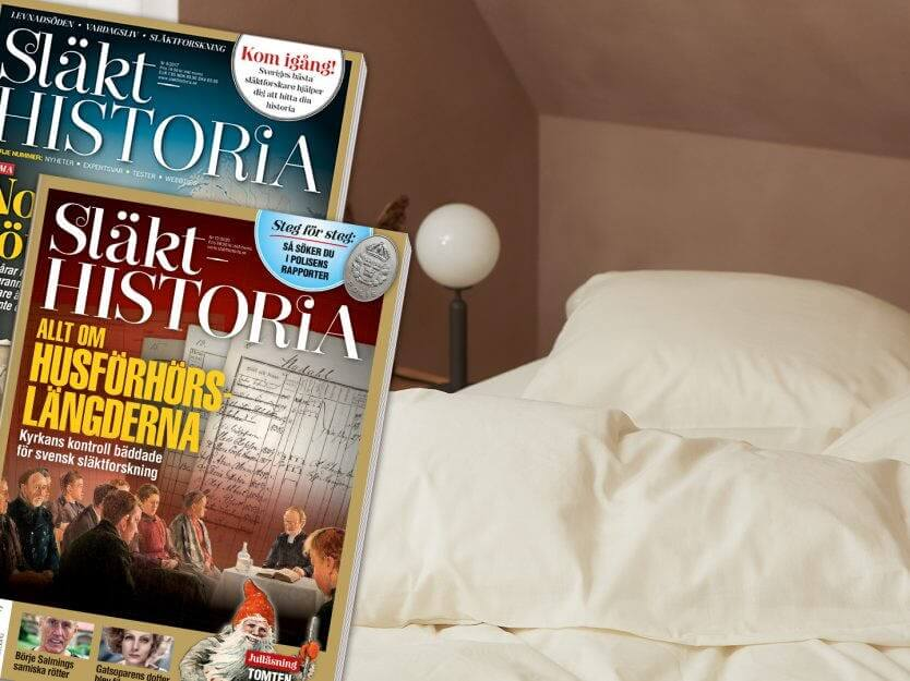 NORD sängkläder med tidningen Släkthistoria