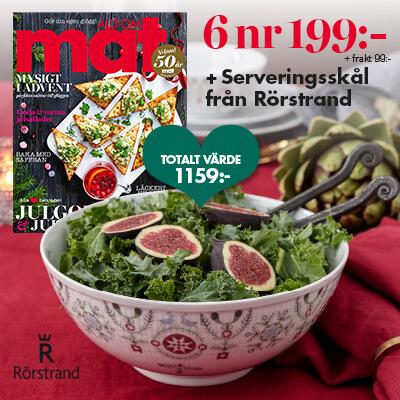Allt Om Mat + Serveringsskål Swedish Grace Winter från Rörstrand som premie