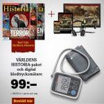 Världens Historia + Digital blodtrycksmätare som prenumerationspremie