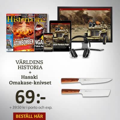 Världens Historia + Hasaki Omakase-knivset som premie