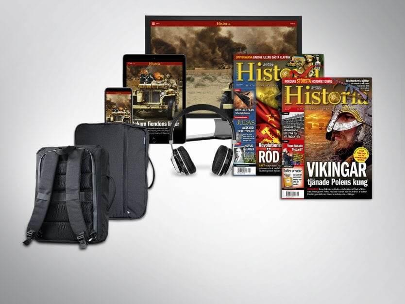 Världens Historia + Outpack ryggsäck