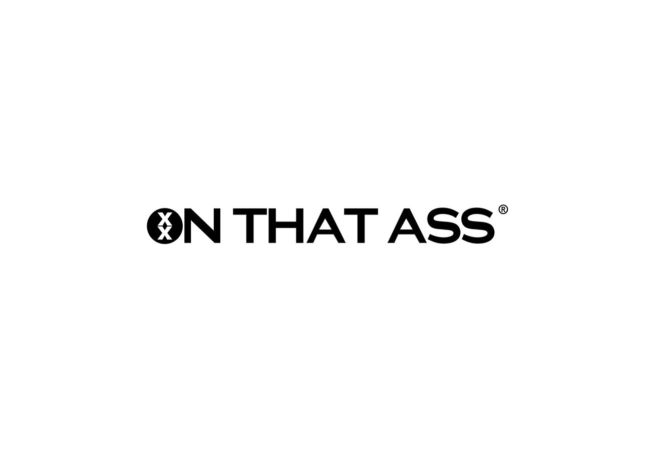 On the ass logo